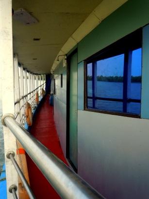 The walk way in lower deck