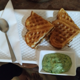 Caramalised Onion Cheese Waffle